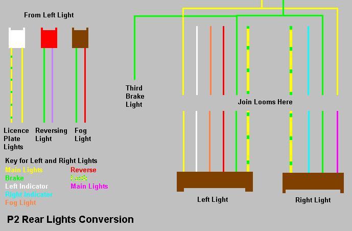 Rear Light Loom Wiring Diagram