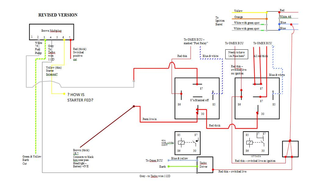 Wiring Omex Relays - Aftermarket Engine Management Systems