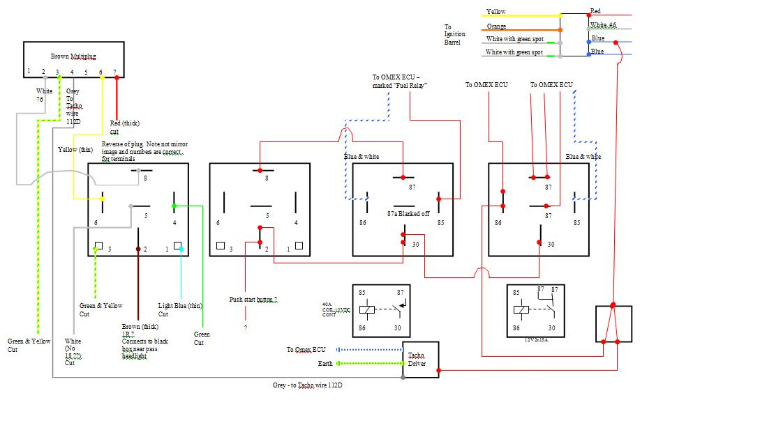 wiring omex relays aftermarket engine management systems